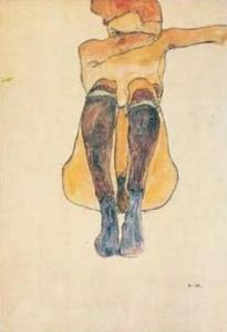 Egon-Schiele-Nudo-seduto-con-calze-viola--1910-33104