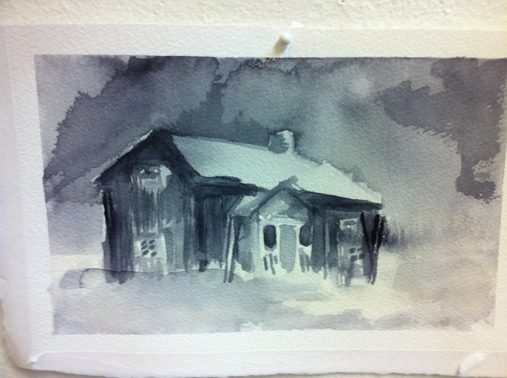 På Grundkursen i akvarell *  - dag 3 och dag 4 (2/5)