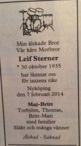 Leffa Sterner är död