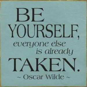 Oscar Wilde ... ett motto