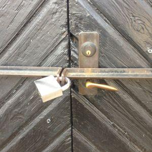 Porten är låst
