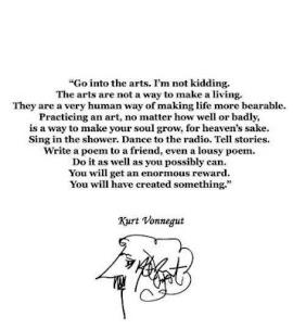 Kurt Vonnegut-citat men det är bra ändå ...